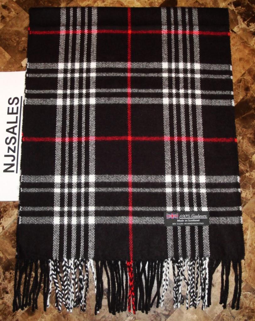 NEW-100-CASHMERE-SOFT-WINTER-SCARF-Tartan-Nova-Check-Plaid-Scotland-WARM-Wool
