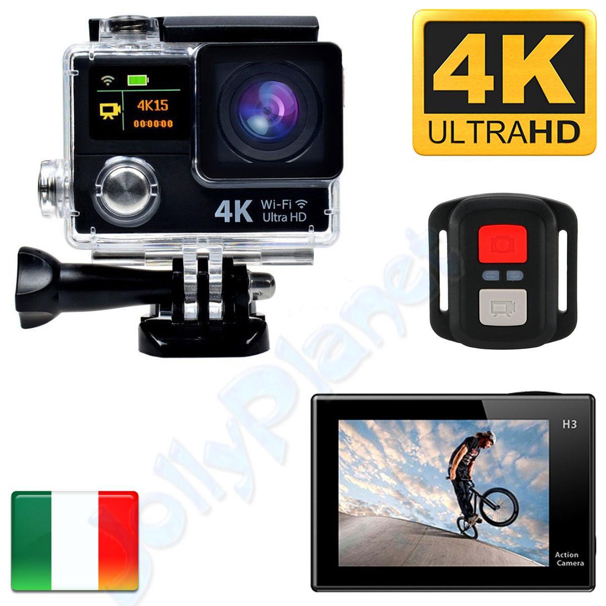 4k wifi sport action camera eken h3r telecomando hd 12mp videocamera go pro h3 r ebay. Black Bedroom Furniture Sets. Home Design Ideas