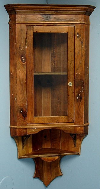 Corner Exhibition Stands Canada : Hanging wall corner display china cabinet pine lovely ebay