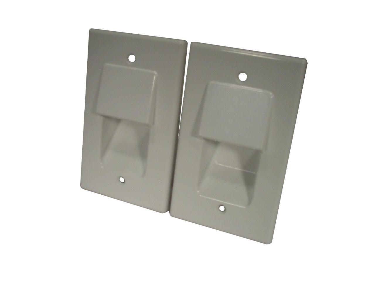2-X-Bull-Nose-Home-Theatre-Wall-Plate-In-Wall-Cable-Management