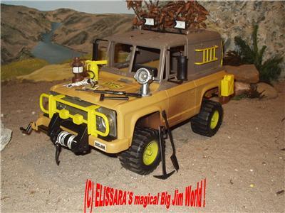 big jim safari truck jeep mit funktionierendem licht. Black Bedroom Furniture Sets. Home Design Ideas