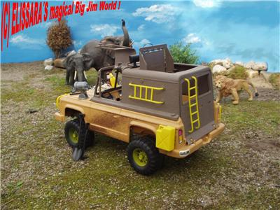 big jim safari truck jeep mit funktionierendem. Black Bedroom Furniture Sets. Home Design Ideas
