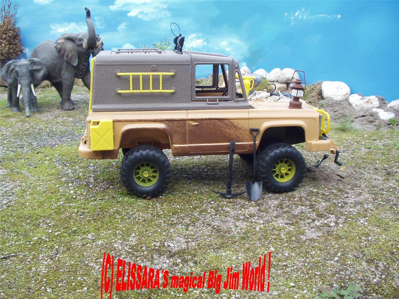 big jim safari truck jeep con spaventosamente fanali di. Black Bedroom Furniture Sets. Home Design Ideas