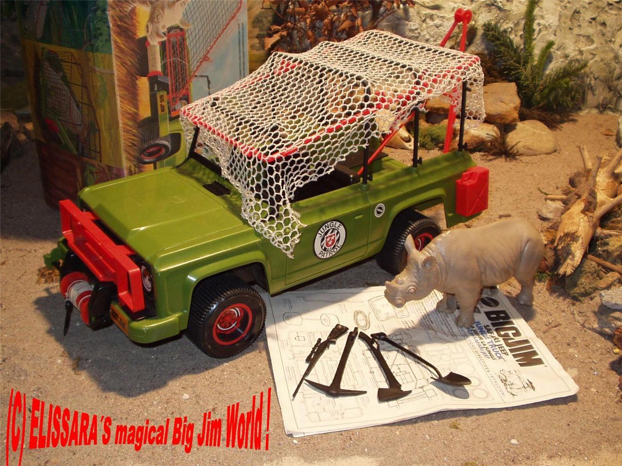 big jim safari jeep jungle truck rhino accessories. Black Bedroom Furniture Sets. Home Design Ideas