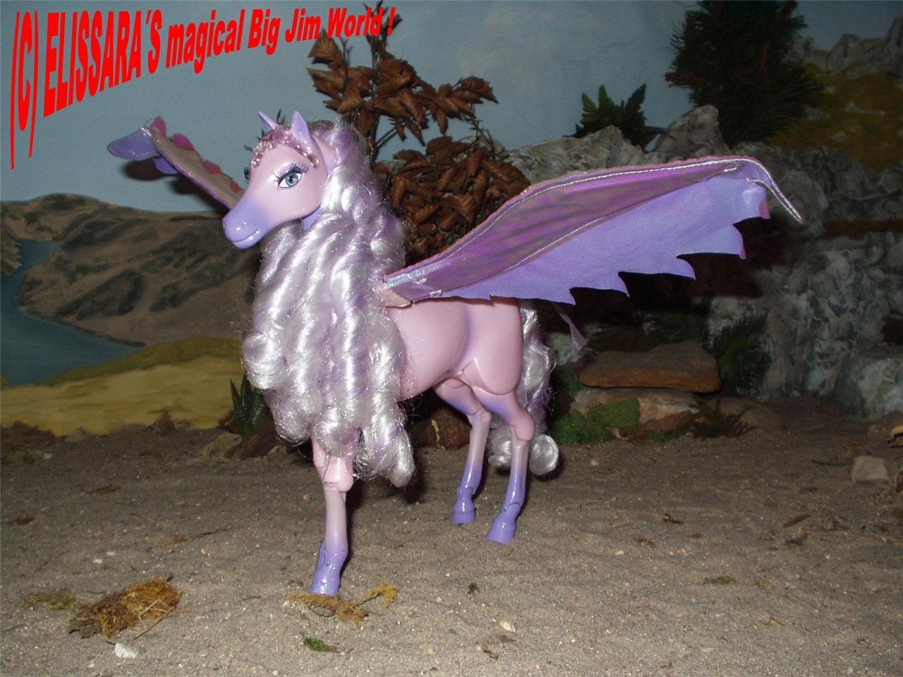 barbie der geheimnisvolle pegasus brietta pferd barbiepferd leuchtet ebay. Black Bedroom Furniture Sets. Home Design Ideas