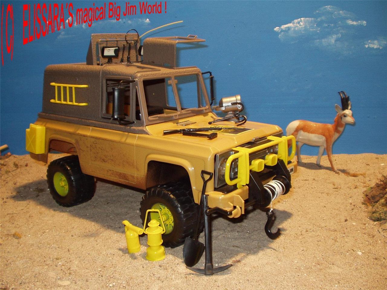 big jim safari truck jeep con spaventosamente luce. Black Bedroom Furniture Sets. Home Design Ideas