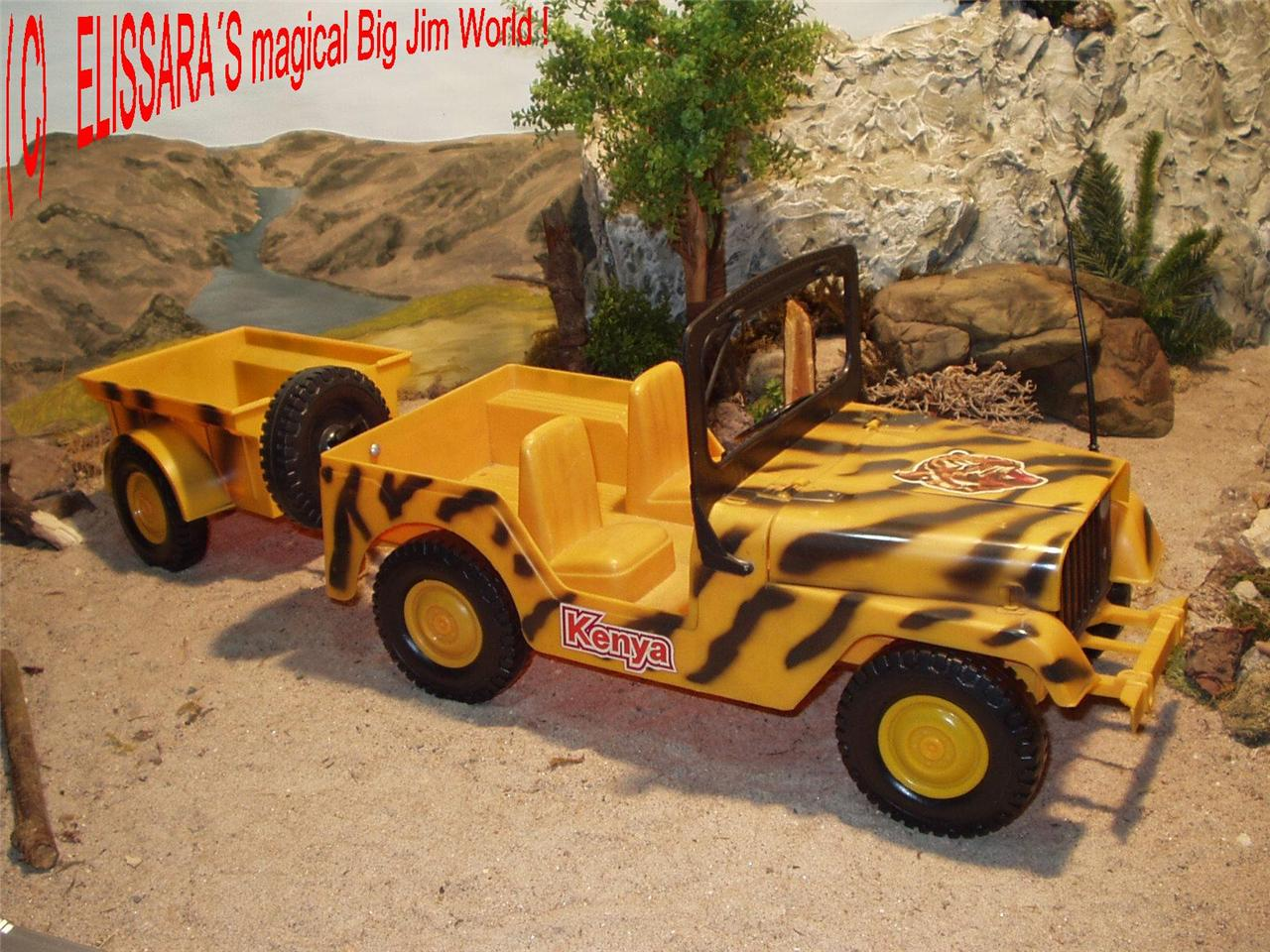 big jim safari jeep kenya mit anh nger trailer molto. Black Bedroom Furniture Sets. Home Design Ideas