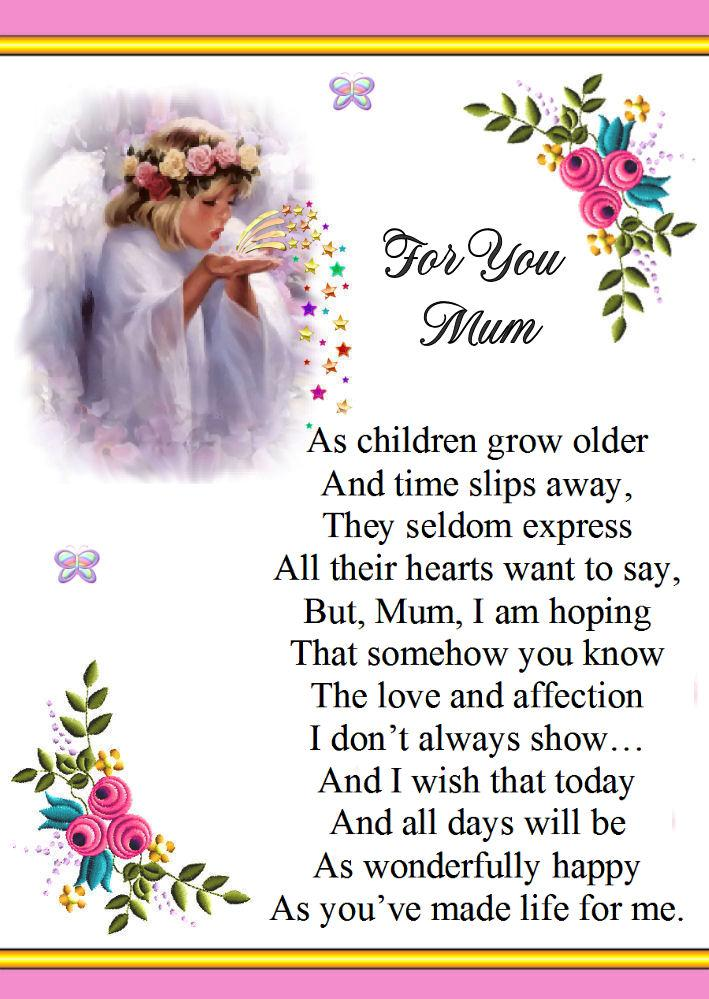 A Beautiful Special Verse Card Mother Mum Birthday Any