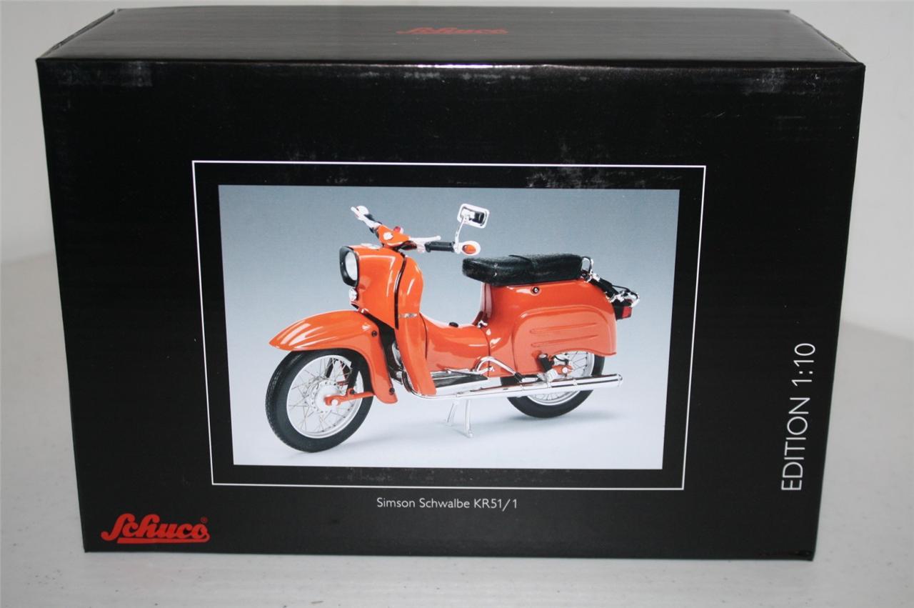 schuco simson schwalbe kr51 1 red orange 1 10 ebay. Black Bedroom Furniture Sets. Home Design Ideas