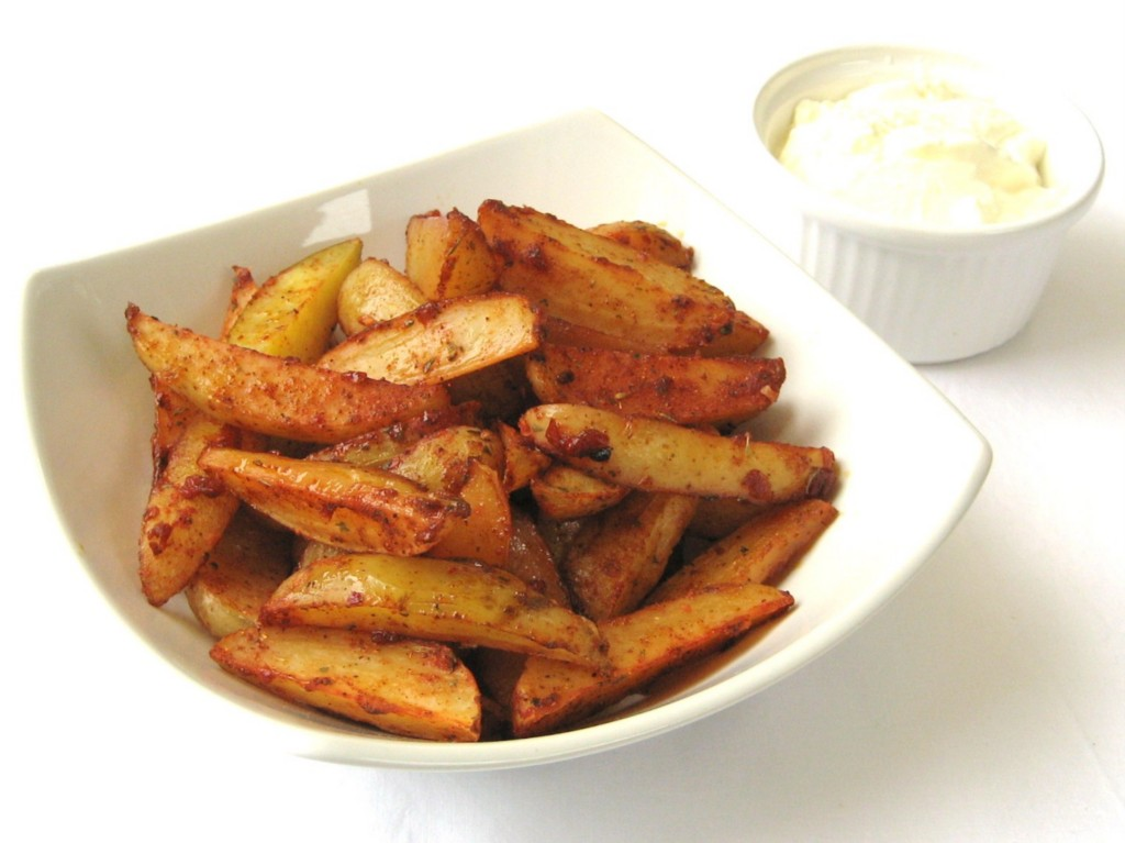 Cajun-Spiced Potato Wedges Recipe — Dishmaps