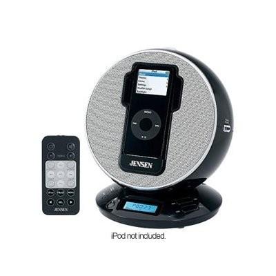 jensen ipod nano touch mini dock alarm clock fm radio speaker charger w aux jack ebay. Black Bedroom Furniture Sets. Home Design Ideas
