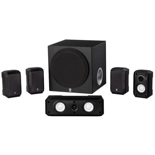 YAMAHA-5-1-CHANNEL-HOME-THEATER-SPEAKER-SYSTEM-W-SURROUND-SOUND-WALL-MOUNTABLE