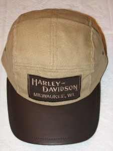 Harley Davidson Vintage Leather RR Hat Cap New