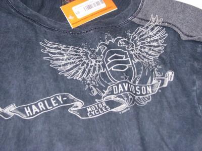MENS HARLEY DAVIDSON EAGLES & SKULLS LEFT WINGED B&S T SHIRT XL NWT SO