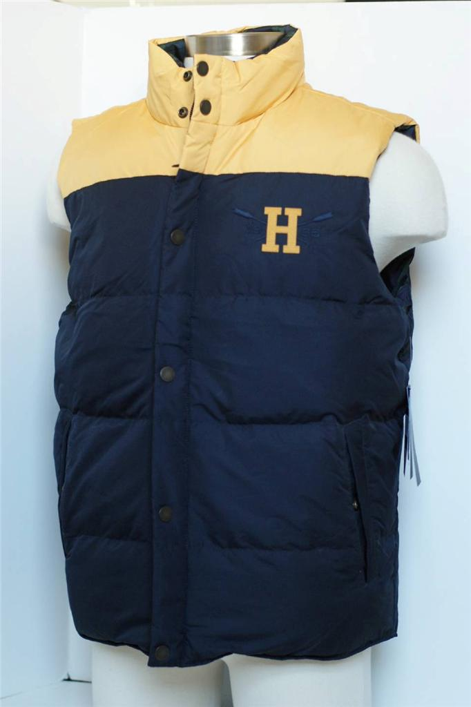 New Authentic Men Tommy Hilfiger Yellow Navy Reversible