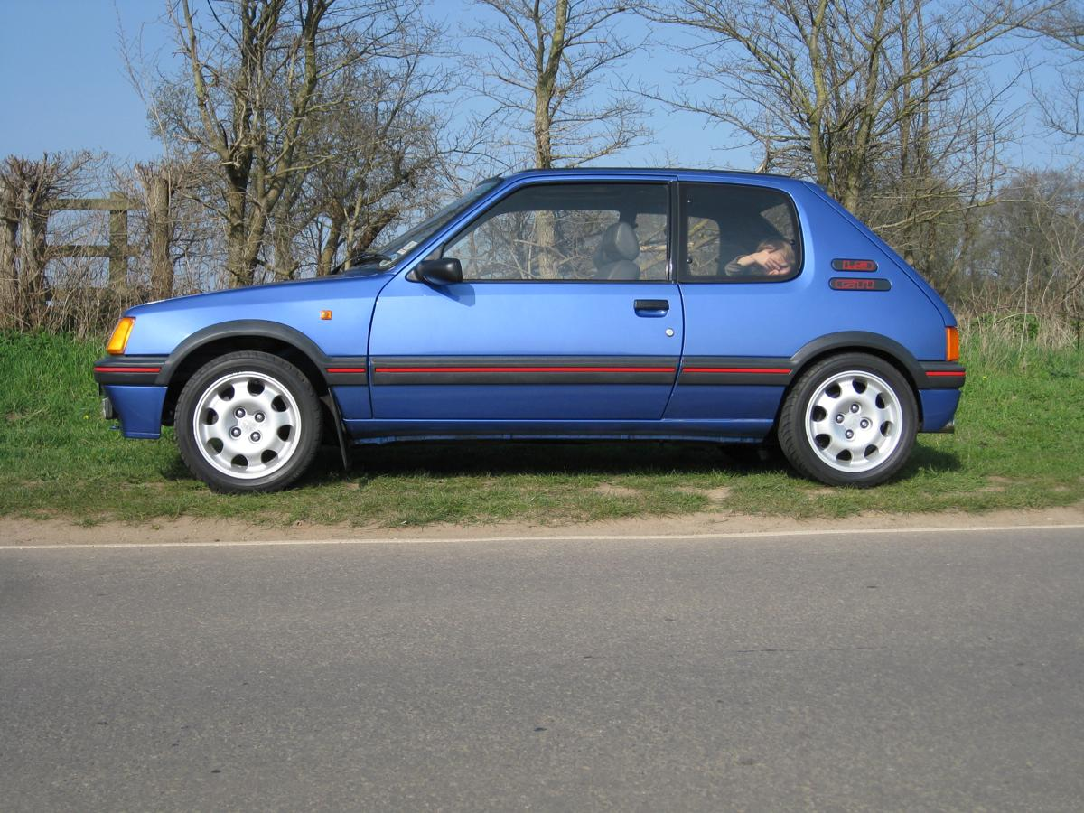 1990g peugeot 205 gti 1 9 miami blue limited edition for sale. Black Bedroom Furniture Sets. Home Design Ideas