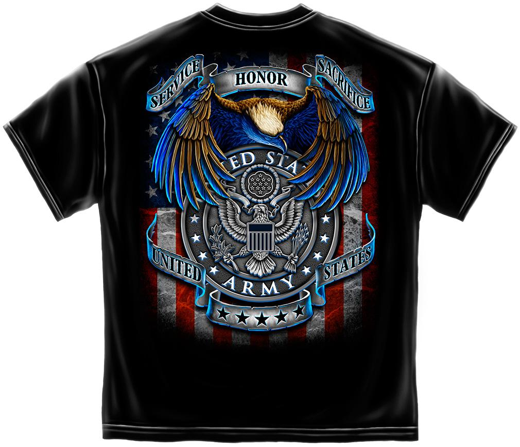 Us army t shirt badge of honor design for Army design shirts online