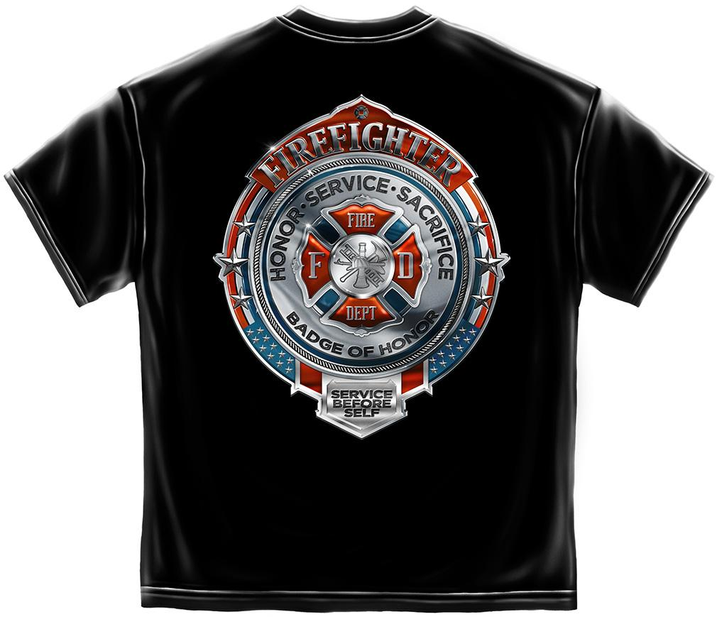 Trenz Shirt Company Firefighter T-shirt Badge of Honor Shield Honor at Sears.com