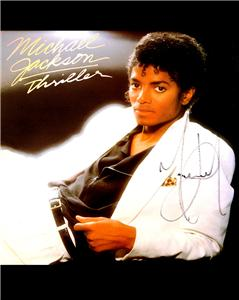 Michael Jackson signed Thriller Album reprint RP