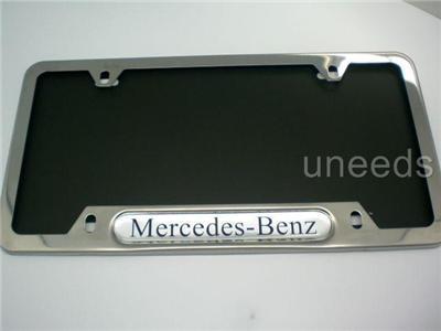 Mercedes benz metal chrome polished steel license plate for Mercedes benz number plate holder