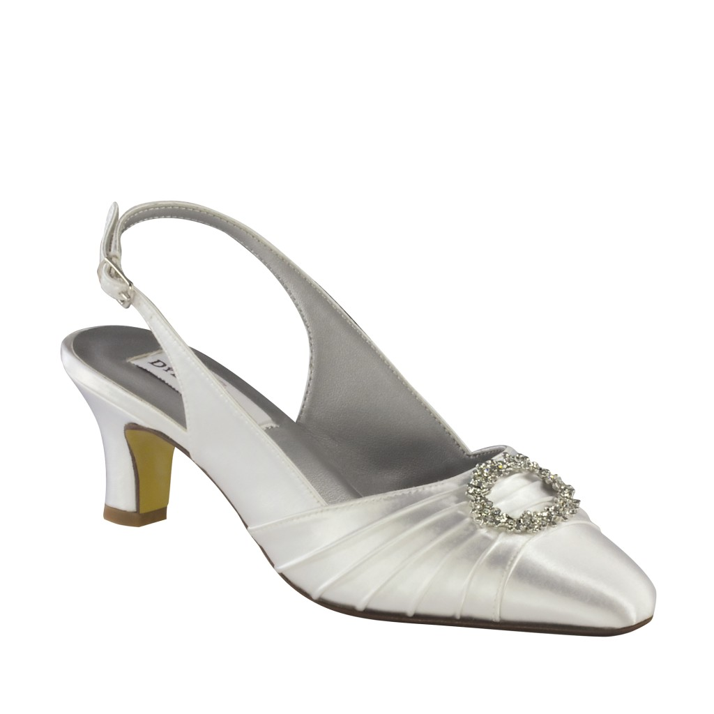 white satin dyeable shoes high heel pumps sandals