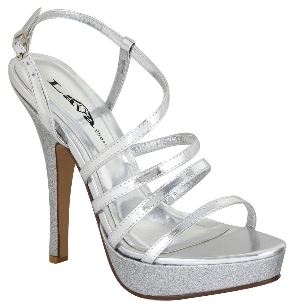 lava silver ankle open toe 4 quot heels shoes bridal
