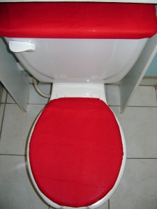 SOLID RED Toilet Seat Lid Tank Cover Set EBay