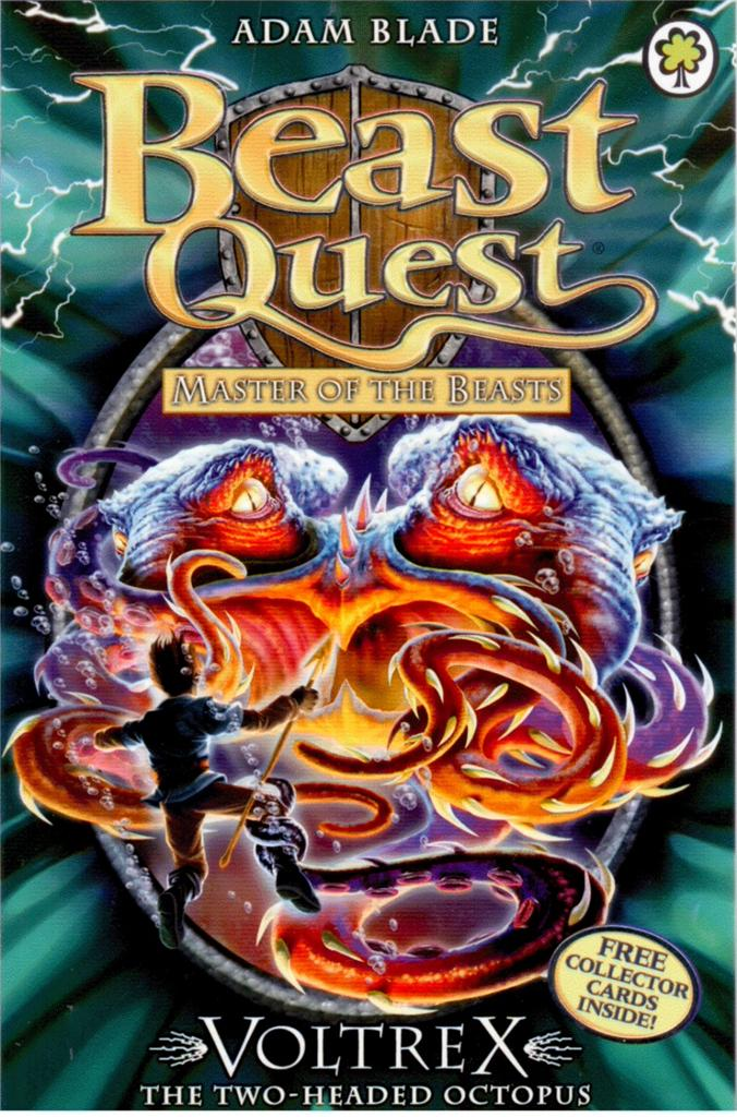 Beast quest 58 master of the beasts voltrex two headed octopus adam
