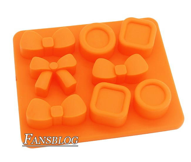 silicone coat bow shaped ice cube tray mold candle soap mould maker tf16 ebay. Black Bedroom Furniture Sets. Home Design Ideas