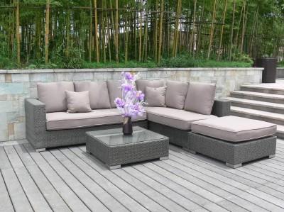 Rattan garden furniture black corner sofa 39 s only sale ebay for Outdoor furniture epping