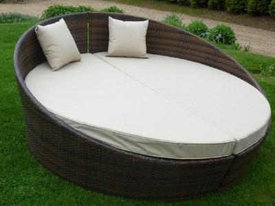 Rattan garden furniture split pod black sale now 499 ebay for Outdoor furniture epping