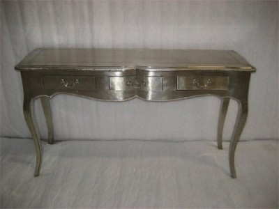 Dining table white metal covered dining table for White metal dining table