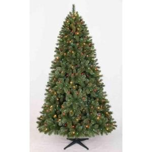 Home Accents Holiday 7.5 ft. Pre Lit Wesley Pine Tree Multi Color