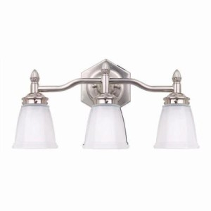 Hampton Bay 3 Light Brushed Classic Collection Vanity Nickel Bath Light 756 613 Ebay