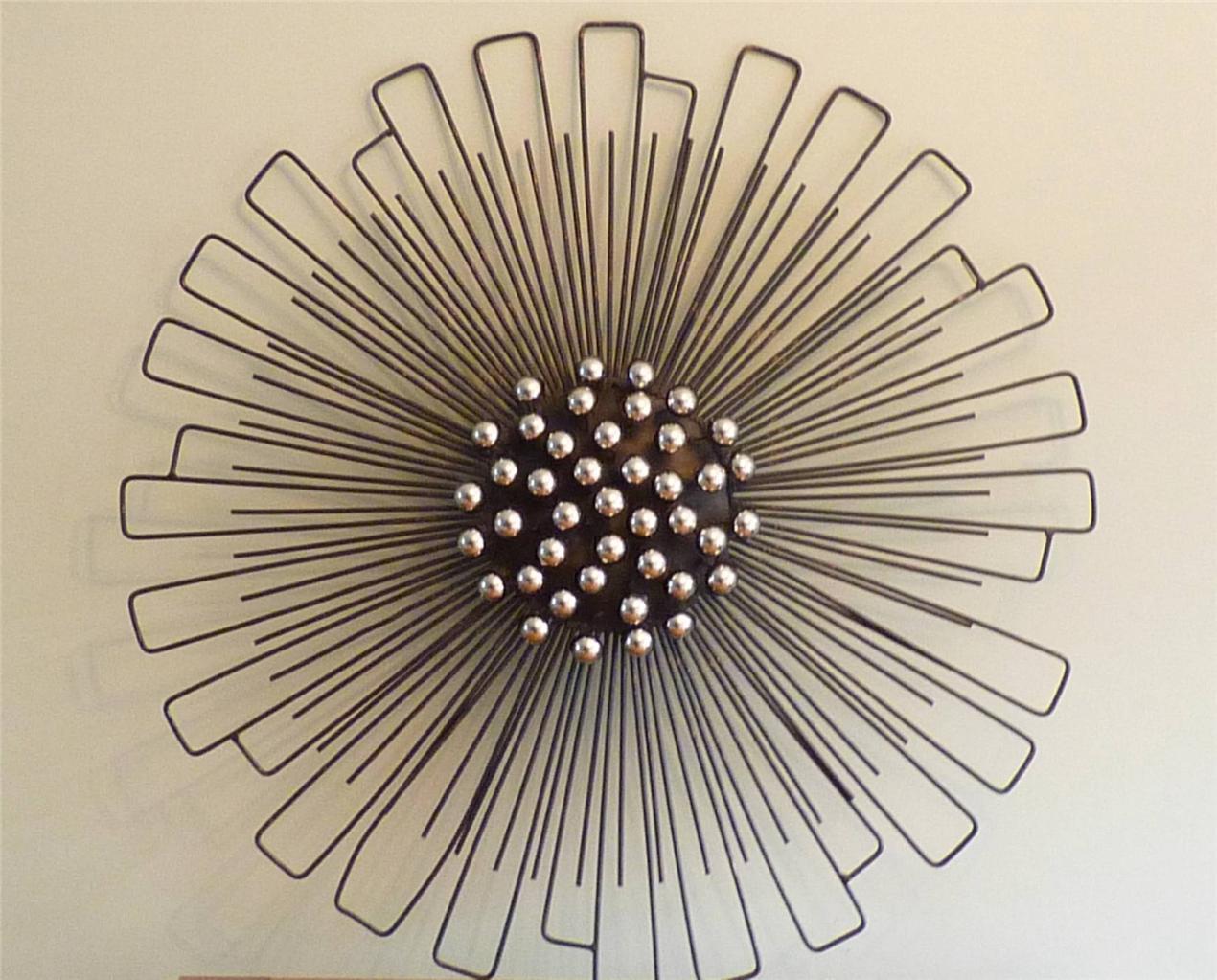 Round Wire Wall Decor : Metal wall art large round modern starburst