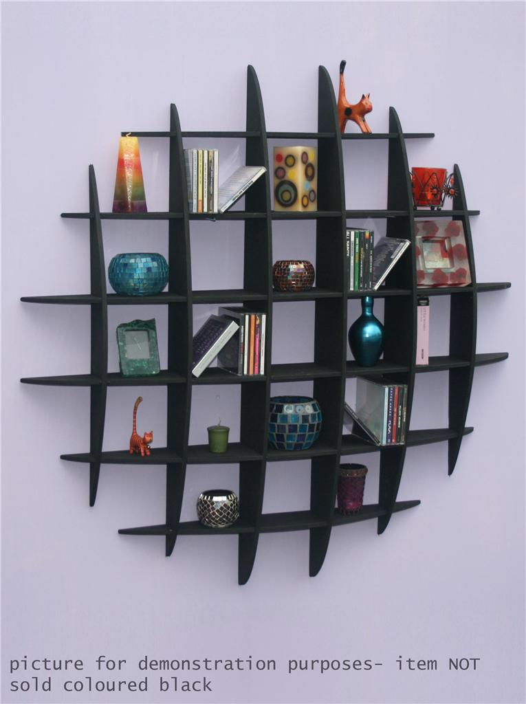 Dvd Cd Storage Rack Wall Mounted Unit Retro Style Shelving