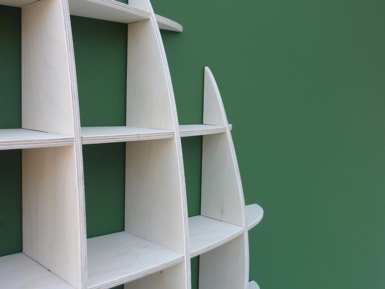 Cd Rack Storage Unit Retro Wall Mounted Shelves 53c Ebay