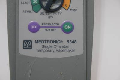 Medtronic 5348 single chamber temporary pacemaker manual