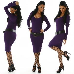 Long Sleeve Sweater Dress on Boat Neck Sweater Dress Tunic Versatile Knit Fitted Long Sleeve   Ebay