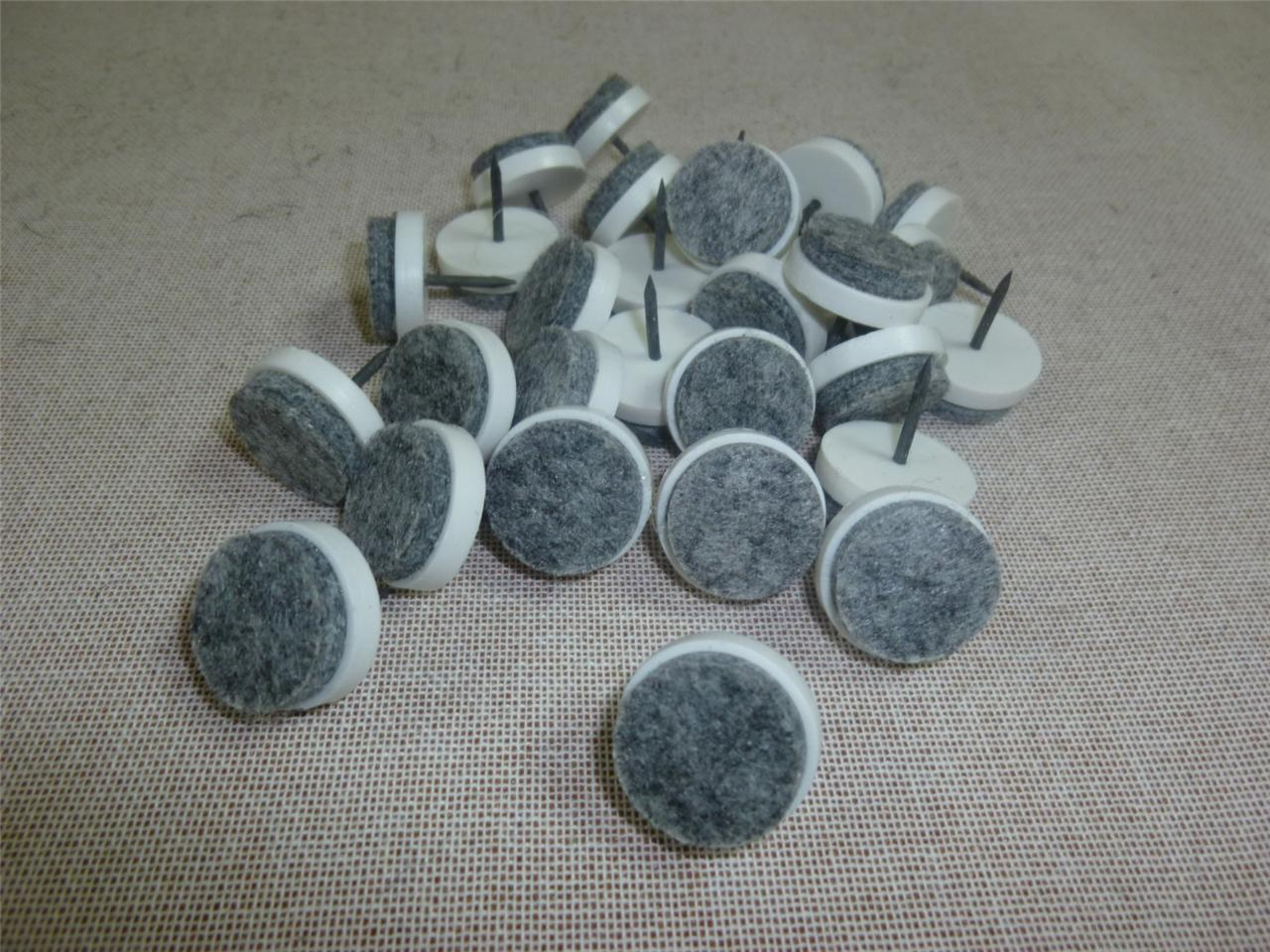 100 25 Chairs Felt Cushioned Nail On Protective Glides Furniture Legs Feet