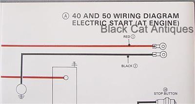 Original    Mariner       Marine       Wiring       Diagram    40 HP   50 HP Electric Start  At Engine