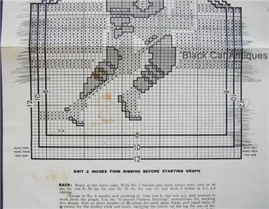 Graph Style Knitting Pattern : Mary Maxim No. 474 Graph-Style Knitting Pattern Boys Hockey Sweater Sz 8-10-1...