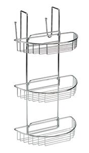 STAINLESS STEEL 3 TIER HANGING SHOWER CADDY BASKET RACK
