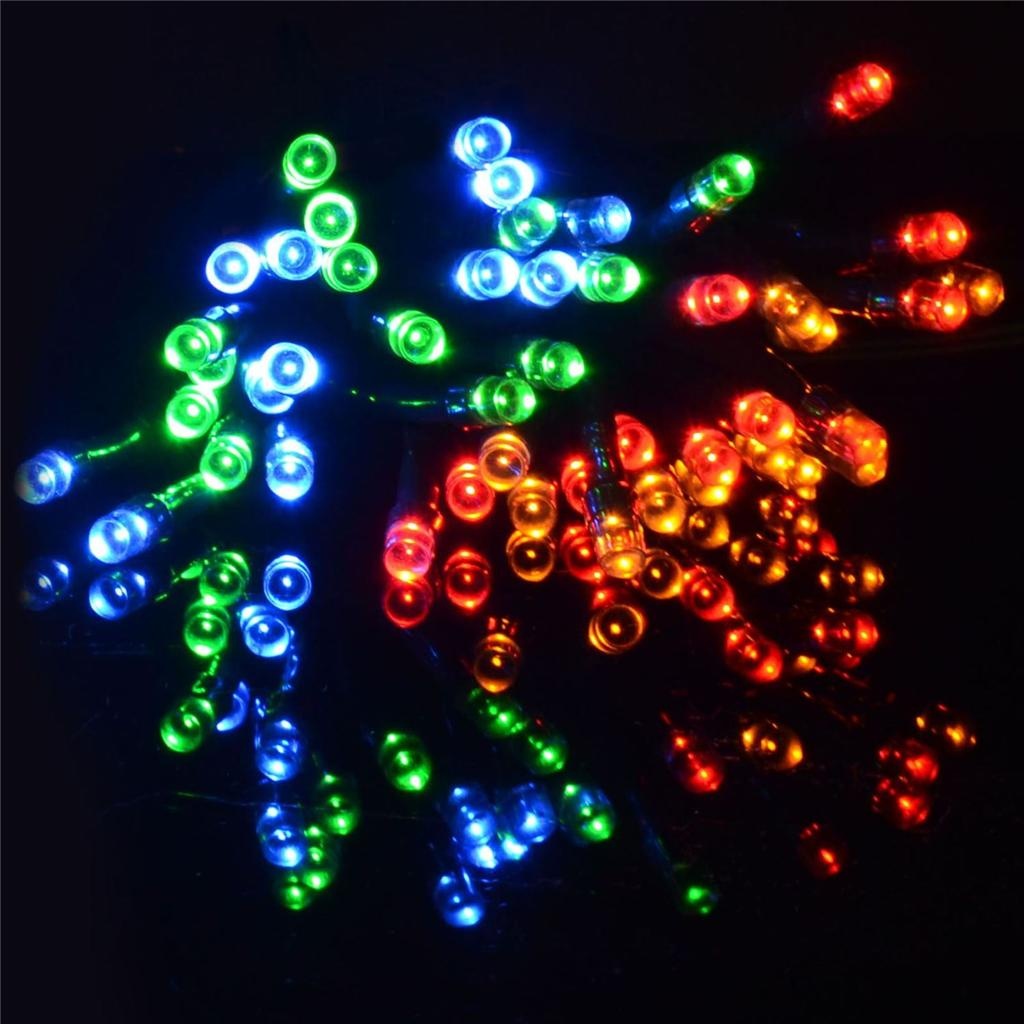 Indoor String Lights With Switch : LED SOLAR POWER 50/100/200 FAIRY STRING LIGHTS GARDEN CHRISTMAS OUTDOOR INDOOR