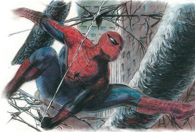 Spider Man Portrait Color