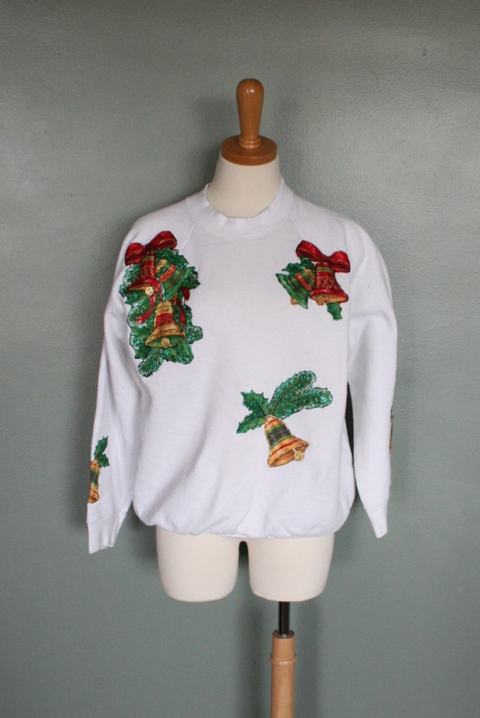 Ugly christmas sweater iron ons bronze cardigan for Fishing christmas sweater