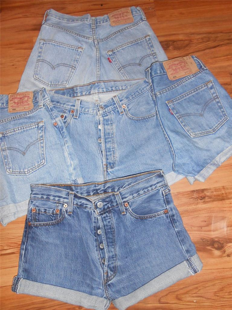 VINTAGE-VTG-WOMENS-LEVI-HIGH-WAISTED-DENIM-SHORTS-SIZE-10-12-14