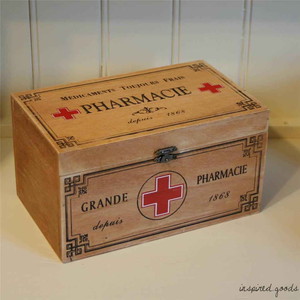 Vintage Style Wooden Storage Boxes French Shabby Chic