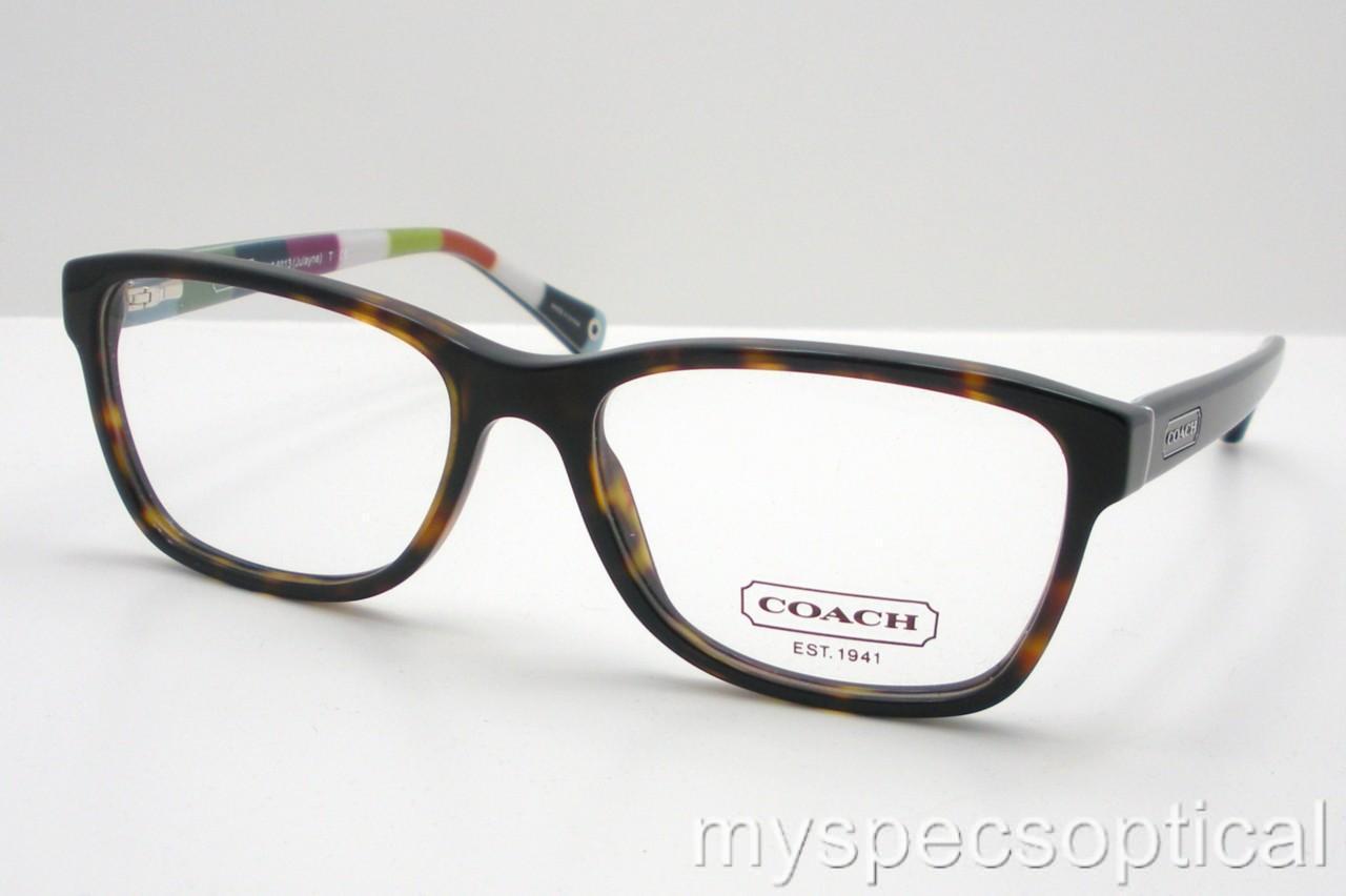 Coach Eyeglass Frames Hc6013 : Coach HC 6013 Julayne 5001 Dark Tortoise New Authentic ...