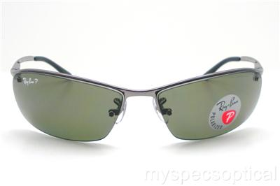 Ray Ban RB 3183 004 9A Gunmetal Polarized Green Sunglass New Authentic    eBay b6f01b5acd2d